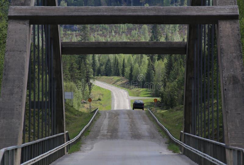 Ponte sobre o rio sueco de Ammeraan fotos de stock royalty free