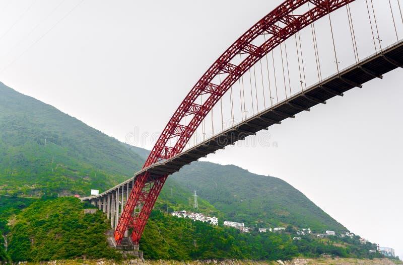 Ponte sobre o Yangtze fotografia de stock royalty free