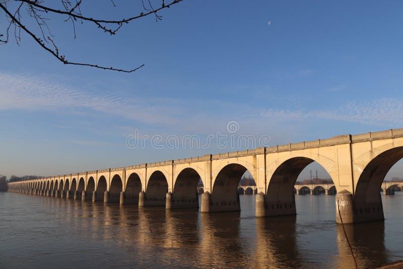 Ponte sobre Susquehanna em Harrisburg imagens de stock royalty free