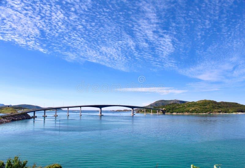 Ponte in Sommarøy, Norvegia immagine stock libera da diritti