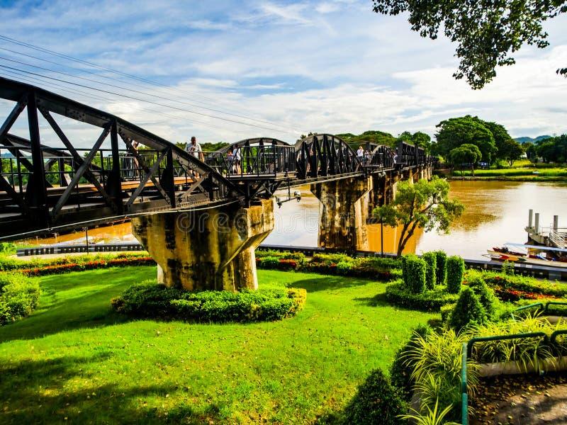Ponte sopra il fiume di Kwai fotografie stock libere da diritti
