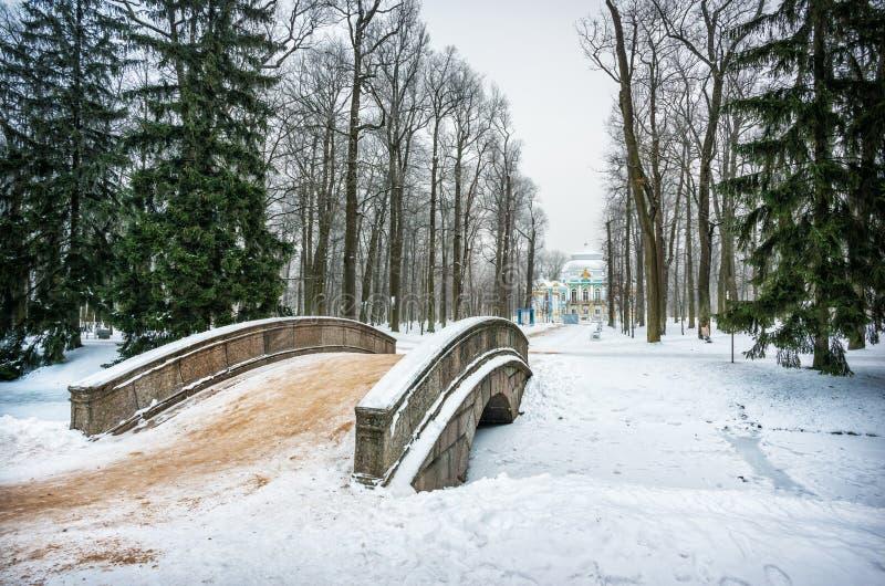 Ponte sopra il fiume in Tsarskoye Selo immagine stock