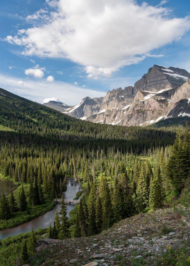 Ponte sopra l'insenatura della cataratta nel Montana fotografia stock