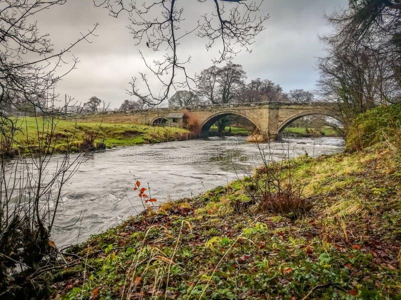 Ponte sopra la colomba del fiume, Doveridge, Derbyshire immagine stock libera da diritti