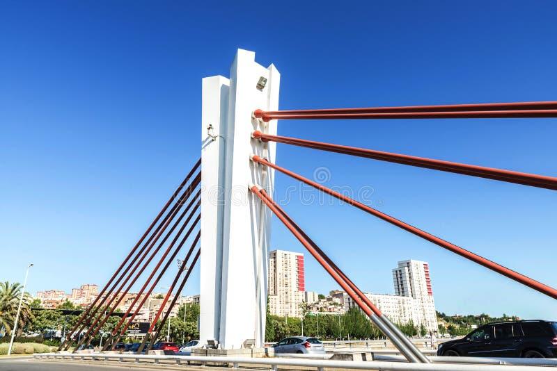 Ponte sospeso a Barcellona fotografia stock