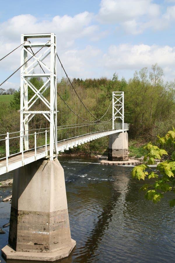 Ponte sospeso pedonale di Dinkley. fotografie stock libere da diritti