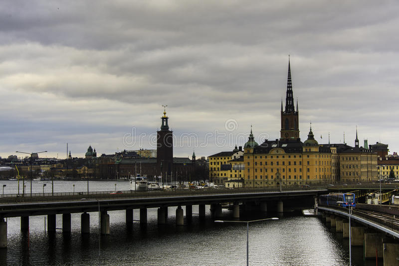 Ponte a Stoccolma, Svezia immagine stock