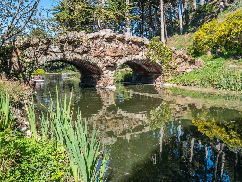 Ponte storico del lago stow immagine stock libera da diritti
