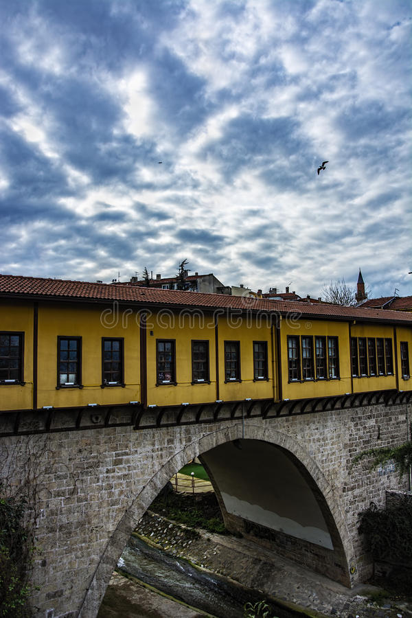 Ponte storico di irgandi fotografia stock