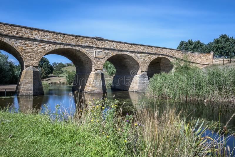 Ponte storico di Richmond, Tasmania fotografia stock