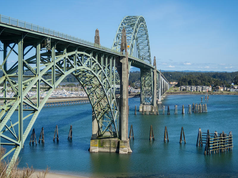 Ponte storico a Newport, Oregon fotografie stock