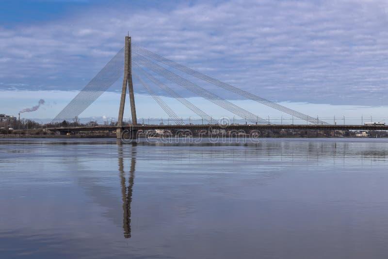Ponte strallato - ponte di Vansu fotografia stock