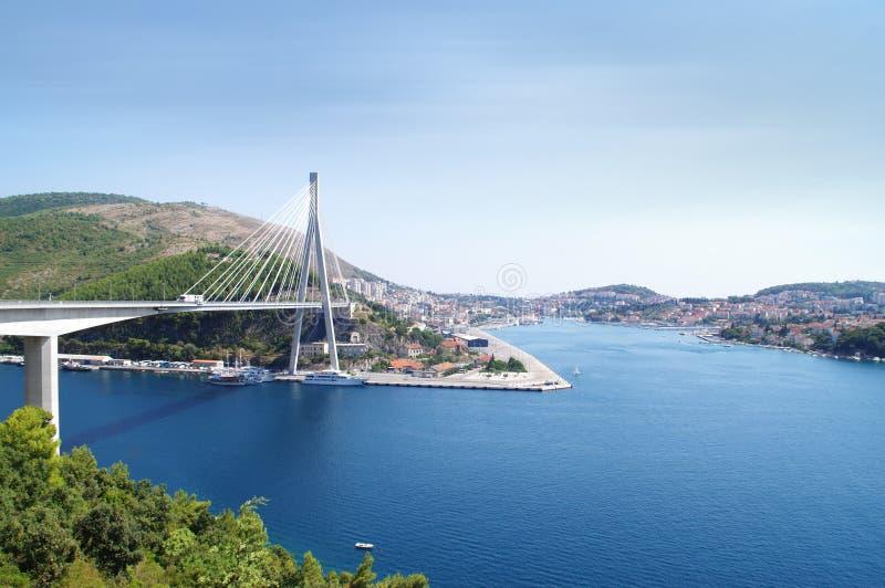 Ponte strallato in Ragusa fotografia stock libera da diritti
