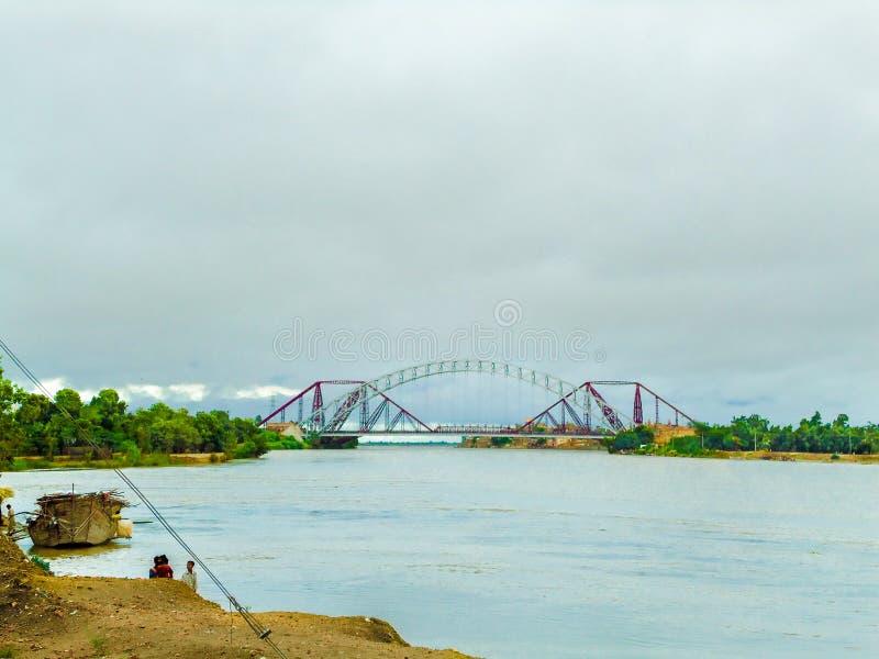 Ponte Sukkur de Lansdowne - uma obra-prima fotografia de stock