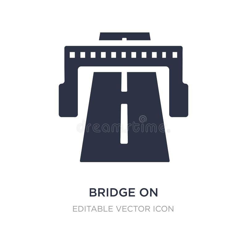 ponte sull'icona di prospettiva del viale su fondo bianco Illustrazione semplice dell'elemento dal concetto generale illustrazione vettoriale