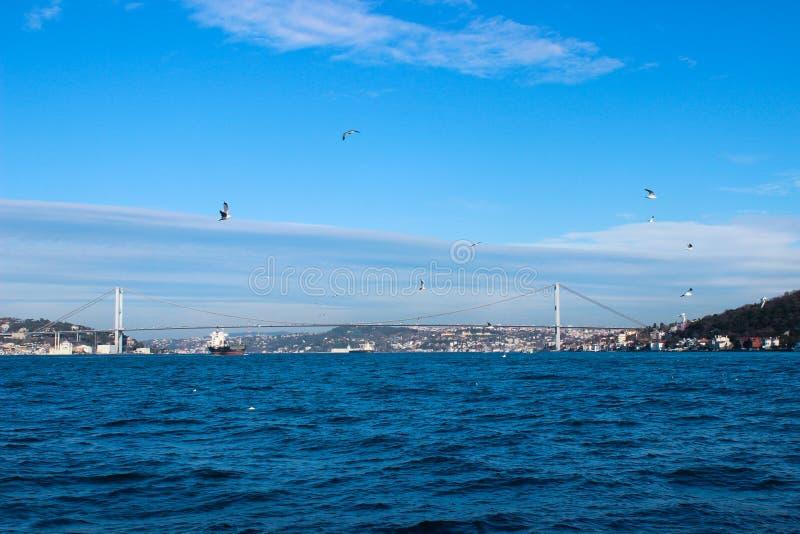 Ponte surpreendente do bosphorus em Istambul fotos de stock