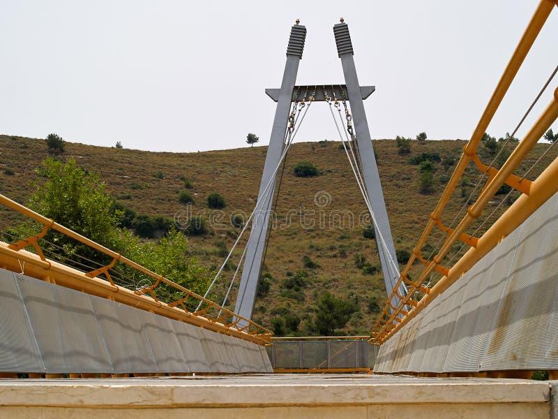 Ponte suspendida moderna pequena imagem de stock royalty free