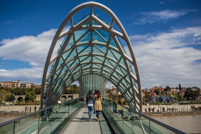 Ponte Tbilisi di pace fotografie stock