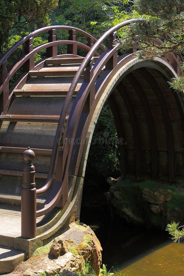 Ponte tradizionale nel giardino di tè giapponese, Golden Gate Park, San Francisco, California fotografia stock libera da diritti