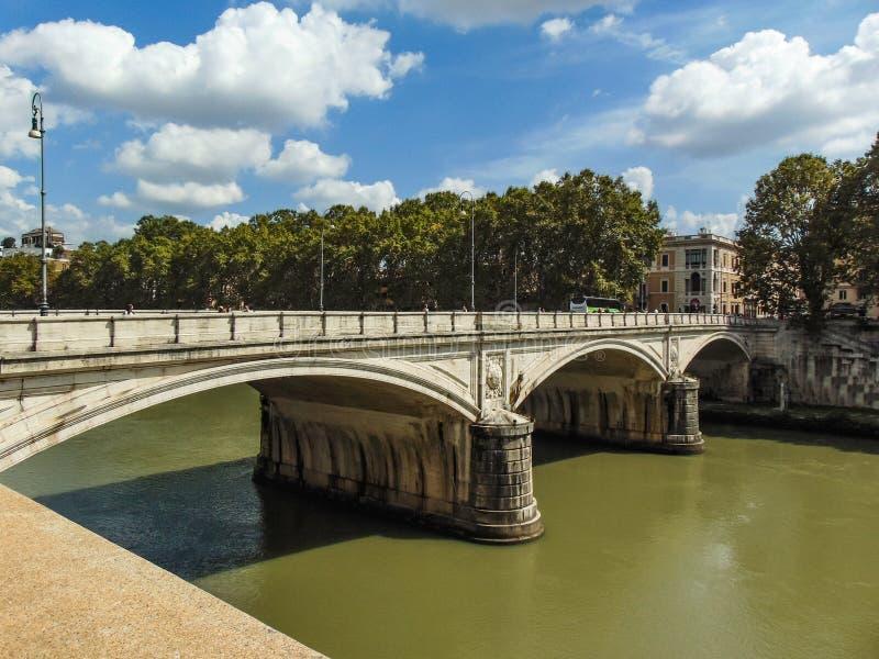 Ponte Umberto I, Rome - Italy stock photography