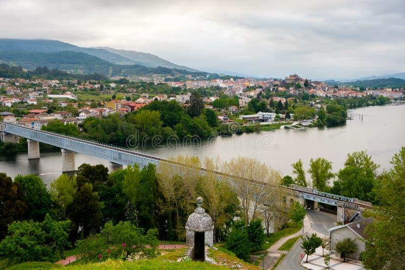 Ponte Valença portata di Tui, Portogallo di collegamento immagine stock libera da diritti
