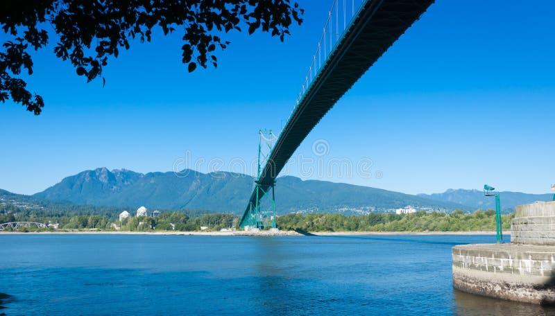 Ponte Vancouver del portone dei leoni fotografie stock