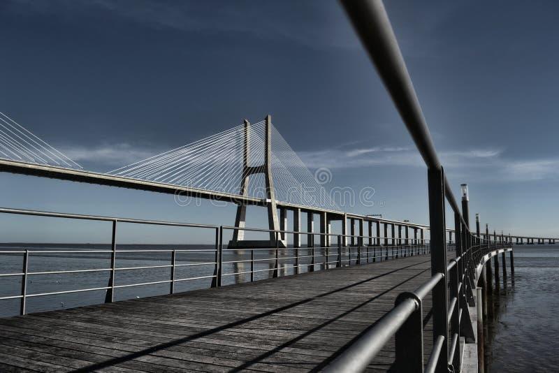 ponte Vasco de GAMA du DA Pont Portugal photos libres de droits