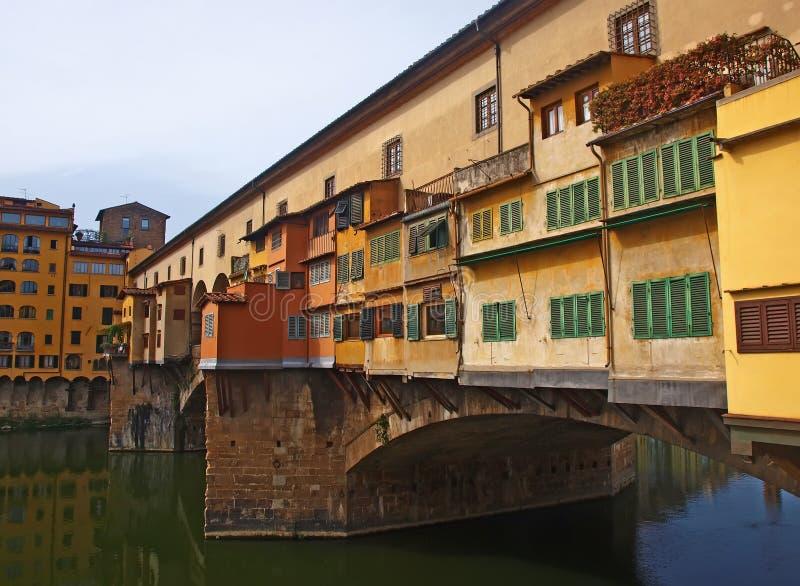 Ponte Vecchio桥梁在佛罗伦萨 免版税库存照片