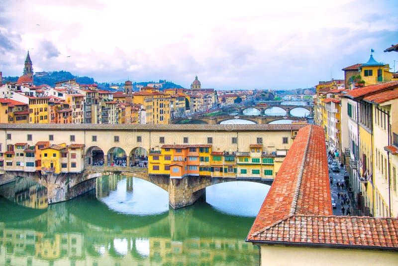Ponte Vecchio. Italy Ponte Vecchio hdr photo stock photo