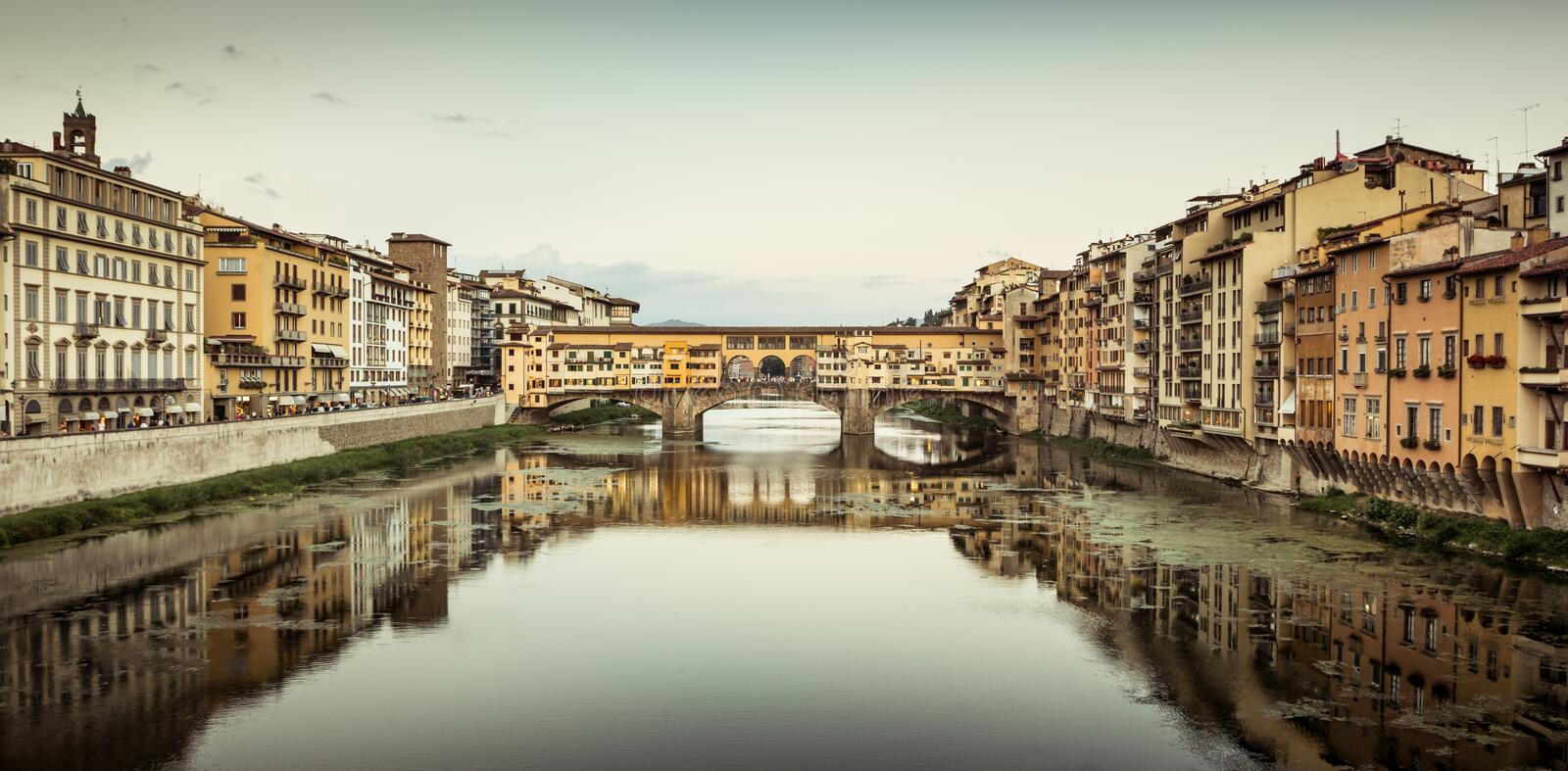 Ponte Vecchio. View of Ponte Vecchio in the afternoon. Firenze, Italy stock photography