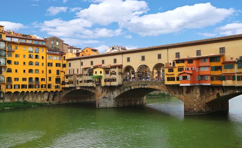 Ponte Vecchio Brücke in Florenz, Italien stockfoto