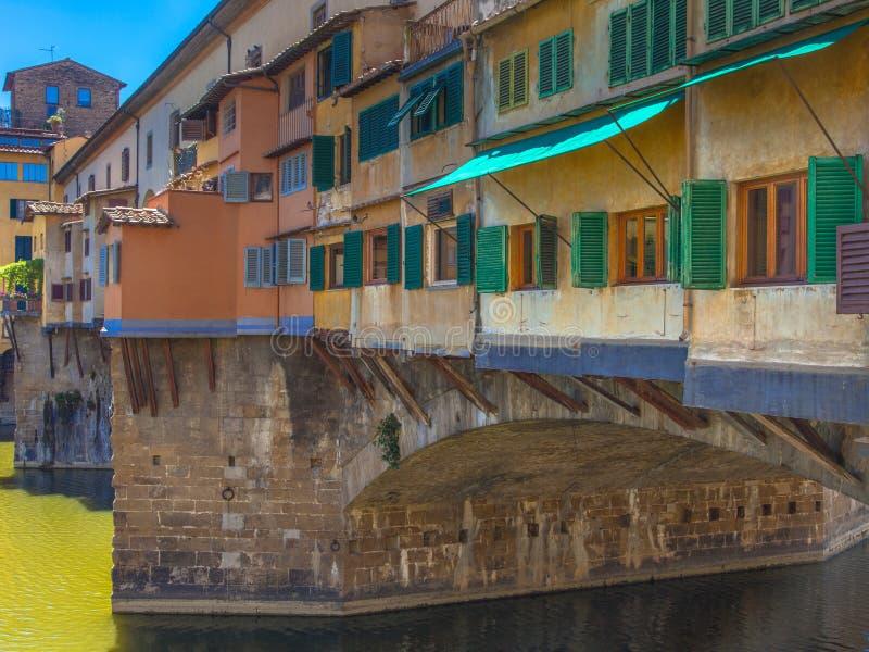 Ponte Vecchio. Detail of Ponte Vecchio Bridge in Florence stock image