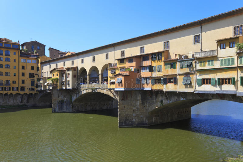 Ponte Vecchio - famous old bridge in Florence stock photography
