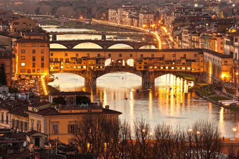 Ponte Vecchio, Firenze. La Toscana. fotografia stock