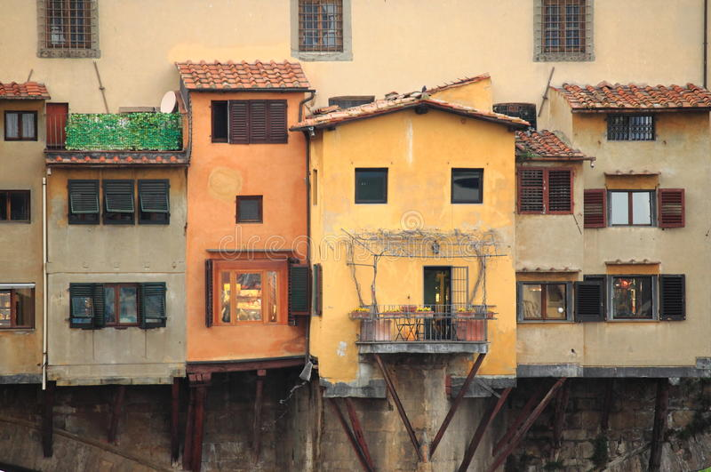 Ponte Vecchio in Florence. Detail of Ponte Vecchio in Florence, Italy stock photography