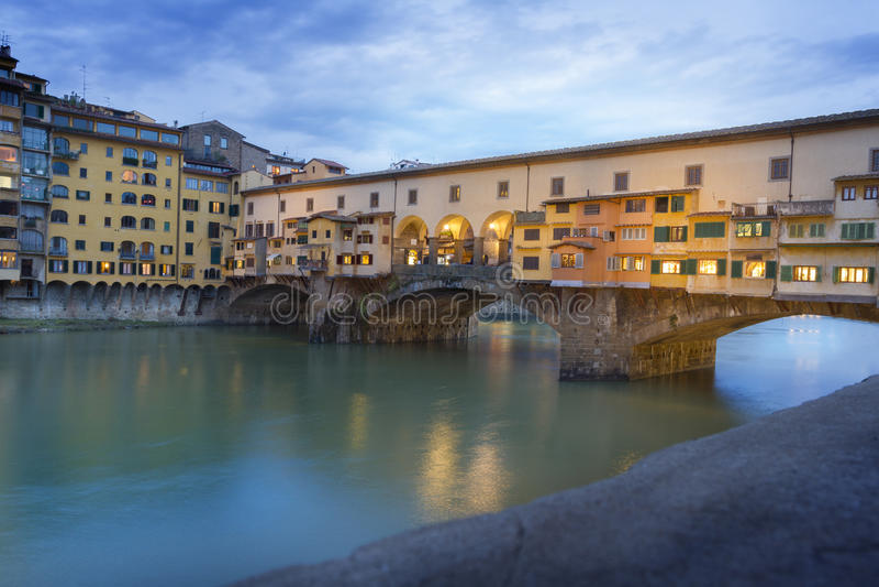 Ponte Vecchio, Florence, Italien, Europa royaltyfri foto