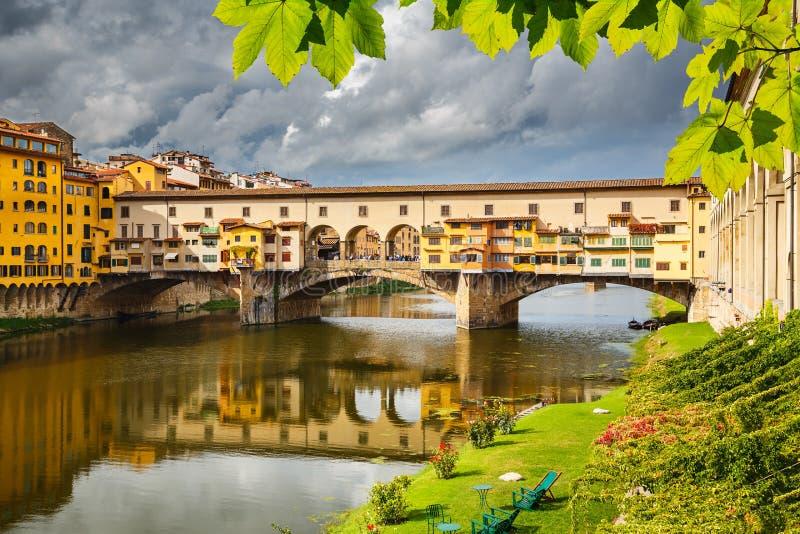 Ponte Vecchio in Florence. Italy stock photo