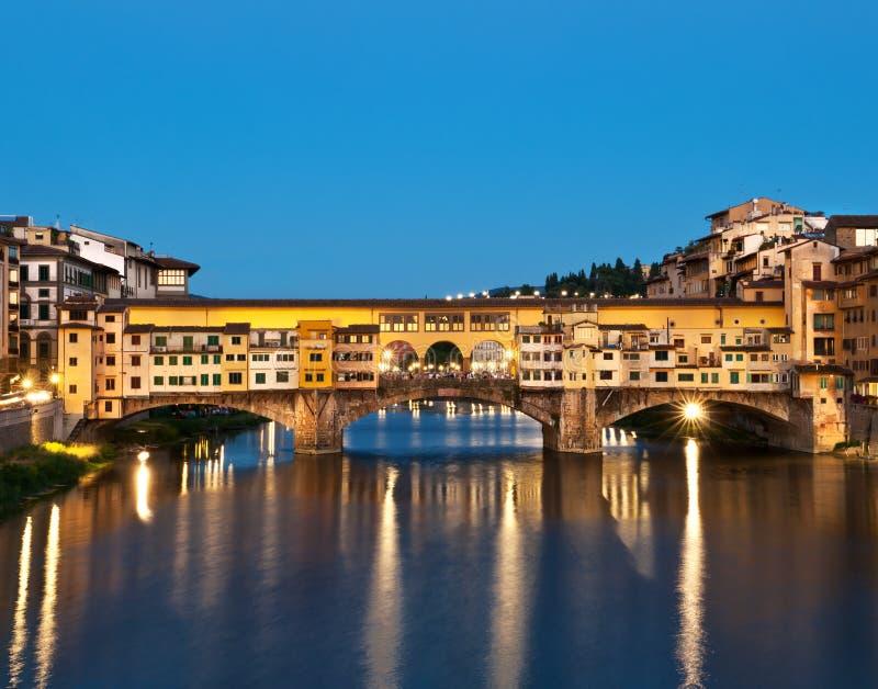 Ponte Vecchio in Florence. Ponte Vecchio in Florence, Italy at night stock photography