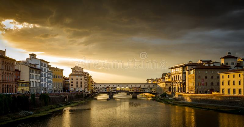 The Ponte Vecchio, Florence, Italy stock photography