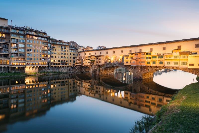 Ponte Vecchio, Florence. Ponte Vecchio at sunset, Florence. Italy stock photo