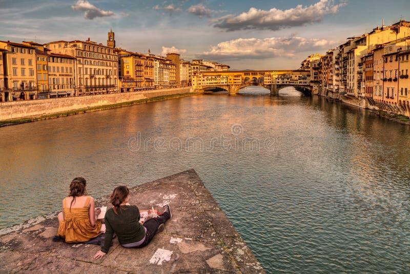 Ponte Vecchio, Florencia, Italia fotos de archivo
