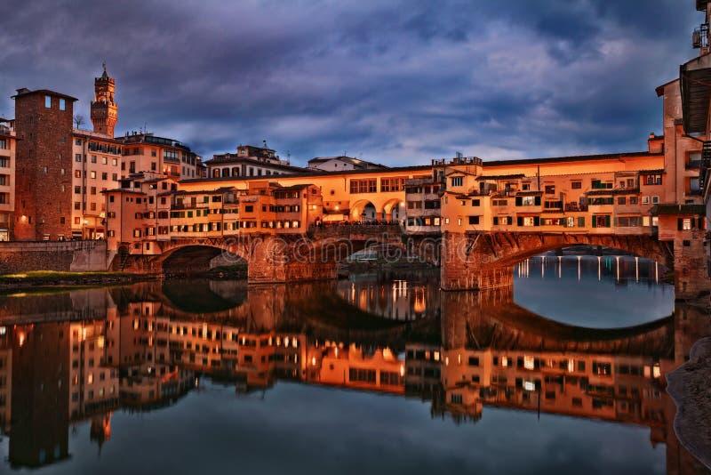 Ponte Vecchio i Florence, Tuscany, Italien royaltyfri fotografi