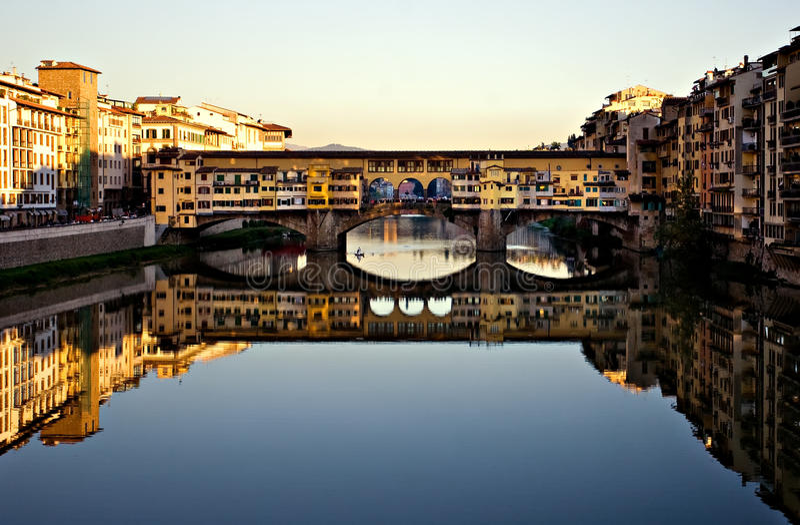 Download Ponte Vecchio, Italy stock photo. Image of reflection - 18333504