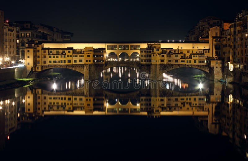 Ponte Vecchio by Night. Ponte Vecchio Night shot in Florence, Italy royalty free stock image
