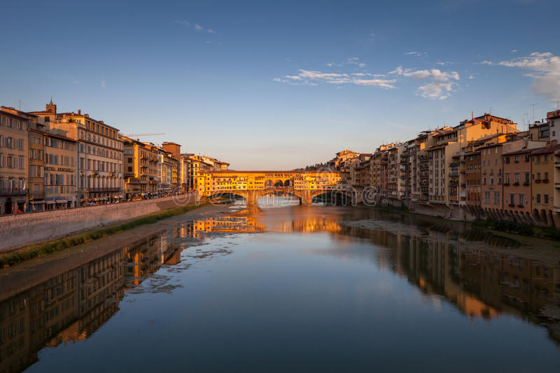 Download Ponte Vecchio At Sunset, Florence, Italy Stock Photo - Image: 26631100