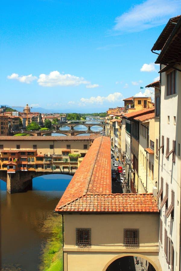 Ansicht von Ponte Vecchio, Florenz stockbilder
