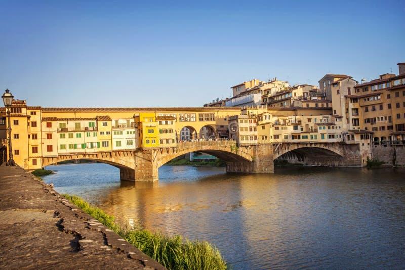 Ponte Vecchio. View of the Ponte Vecchio stock images