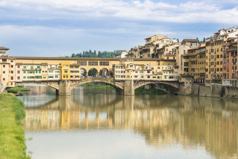 Ponte Veccio Bridge and River Arno, Florence, Italy stock photos