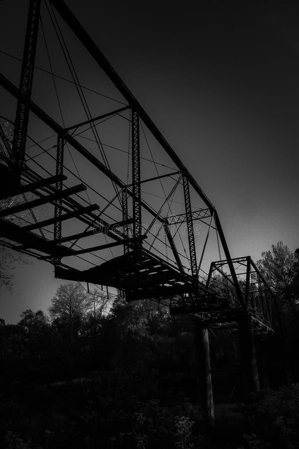 Ponte velha da estrada de ferro fotos de stock