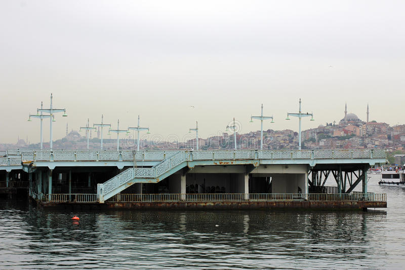 Ponte velha de Galata, imagem de Istambul foto de stock royalty free